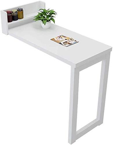 ShuZhuo-NH Faltbare kleine Wohnung Wand-Bartheke Wand-Tisch Wohnzimmer Trennwand Wand-Bartisch und Stuhl einfache Hochtisch 113x105x40cm