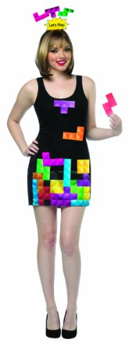 Tetris Kostüm Für Erwachsene - Rasta Imposta Tetris Video Game Piece Dress One Size