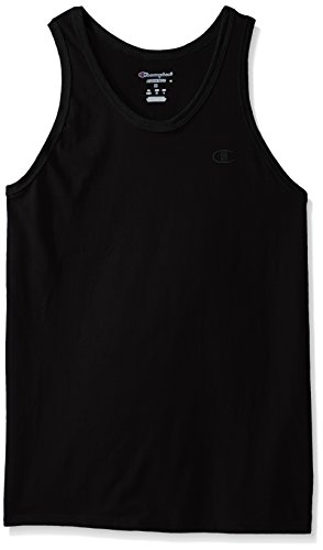 Champion Men's Classic Jersey Ringer Tank L Black (Cami Jersey)