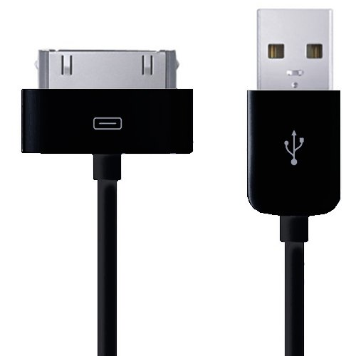 Xtra-Funky Exclusif: Apple Dock Connector, cable USB 1 metre de haute qualité, Cable Câble de données / chargement pour iPhone / iPod pour Apple iPhone 3G 3GS 4 4S / iPod Touch 1st 2nd 3rd 4th generation/ Nano & Classic 1st 2nd 3rd 4th 5th 6th generation/ iPad 1 & 2 (Sync Only with iPad) - couleur: noir