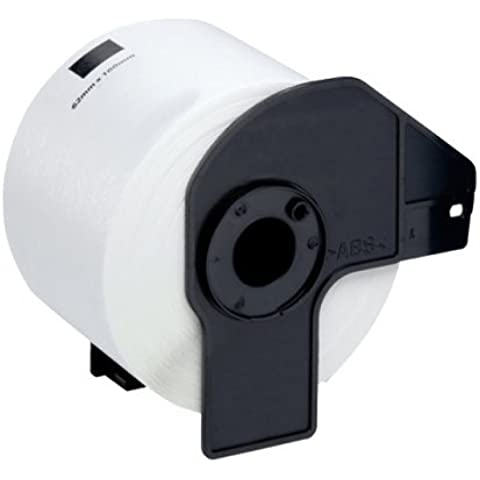 MULTIPACK (5 Rolls with Frame) = 5 x DK11204 (17mm x 54mm) White Standard Address Labels (400 Labels per Roll) Compatible with Brother QL-500, QL-550, QL-560, QL-570, QL-580N, QL-650TD, QL-1050, QL-1060N - Rollo de etiquetas precortadas multipropósito
