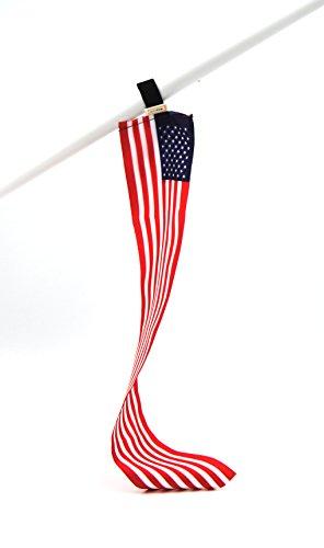 5er-Set USA Mini-Flagge | Flexible kleine Deko-Fahne | Fan-Artikel zur Dekoration in National-Farben für Fußball Handball WM EM Auto Boot Tasche oder Schüler-Austausch Messe Urlaub u.v.m.| Botschaft Usa