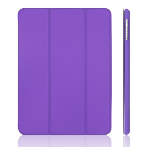 JETech Hülle für Apple iPad Air (2013 Modell), Schutzhülle mit Ständer Funktion & Auto Schlaf/Wachen, Violett