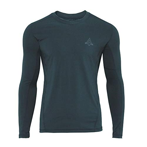 Feuchtigkeit Wicking Hemd (EXCELLENT ELITE SPANKER Herren Schnell trocknend Langärmliges T-Shirt Feuchtigkeit Wicking Sportlich Hemden Sporthemden(Saphir blau-XXL))