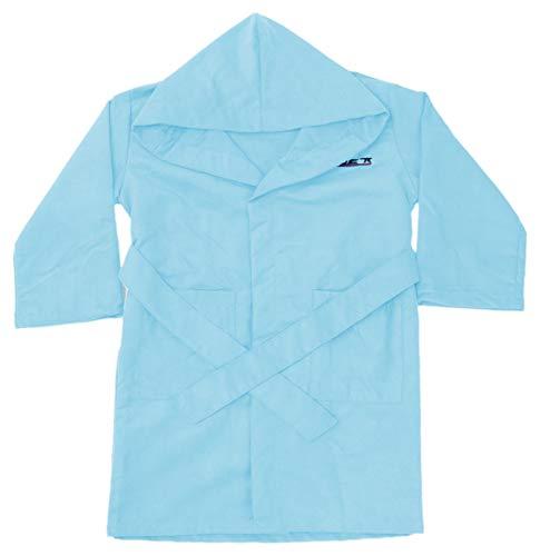 NONUET - Albornoz Microfibra Colores Lisos Infantil Azul Celeste, 5-6