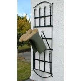 Lingfield Park 6 Pair Wall Mounted Boot Rack - Black