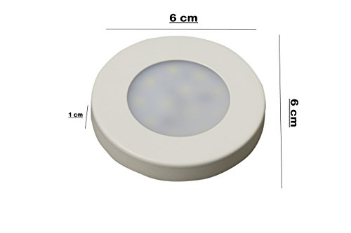 Glitz Led Surface (Ceiling Mount) Panel, SLIM Round Style, Warm white 3000k, with IC Driver (3.00 Watts) Set of 4