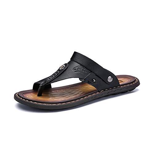 Männer Sandalen Flip Flops Licht Anti Slip Peep Toe Leder Flache Wasser Schuhe Sommer Weiche Sohlen Strand Sandale Hausschuhe Schuhe