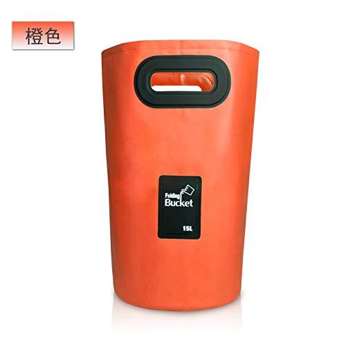 Chuan Rong Tragbares zusammenklappbares Waschbecken Reise-Luftpolsterbeutel großer Waschschüssel, orange - 15L