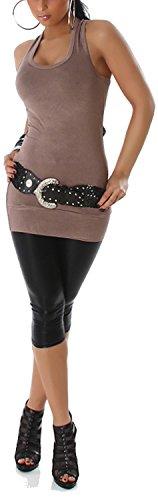 Jela london 110067 élastique basic femme (pointure 32 à 36) Marron - Macchiato