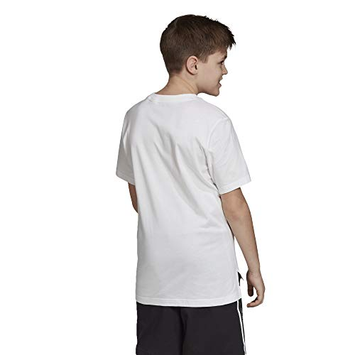 adidas YB P U Tee, Maglietta Bambino, Bianco, 140 (9/10 Años)