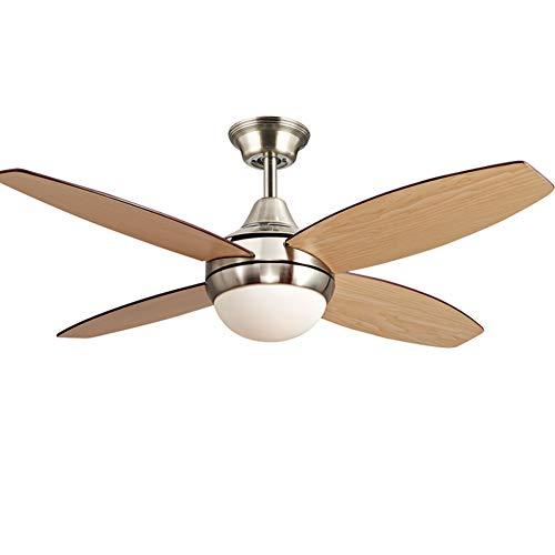 Downrods 4 (Jrqh Led Lichtquelle Wendeflügel Flügel Aus Holz Deckenventilator Licht, Durchmesser 107cm 4 Klingen Einziges Licht 3 Geschwindigkeiten Leise Deckenventilator-silber E 42zoll)