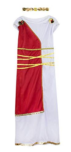 Mombebe Cosland Mädchen Göttin Kleid Karnavel Griechisch Kostüm (Weiß, S)