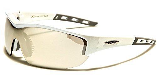 pour homme X-Loop Falcon Lunettes de soleil sport complet UV400 Protection idéal pour Athlétisme & Cyclisme - Noir, Large