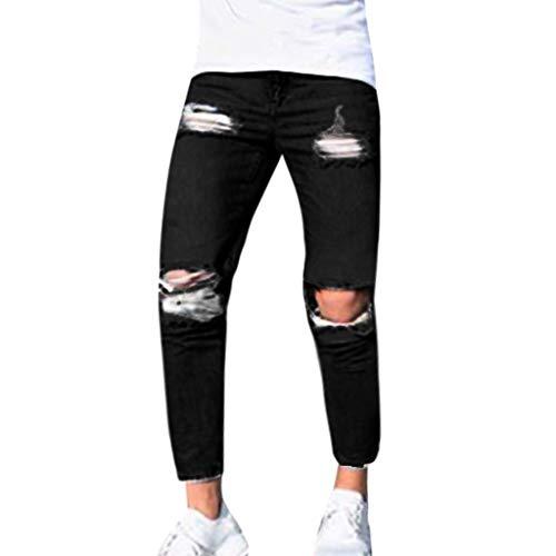 Somesun moda uomo pantalone jogging sportivo a maniche lunghe in morbido allentato righe slim fit stretti alla caviglia elasticizzati larghi lavoro elegante invernali utility (nero-2, l)