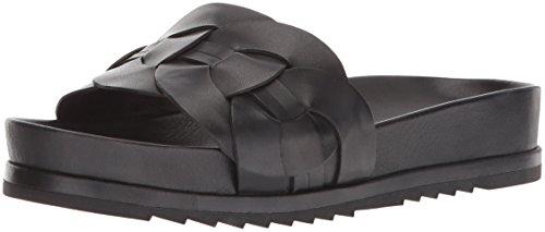 FRYE Damen Lily Leather Ring Slide Turnschuh, schwarz, 40 EU Ring Slide Sandalen