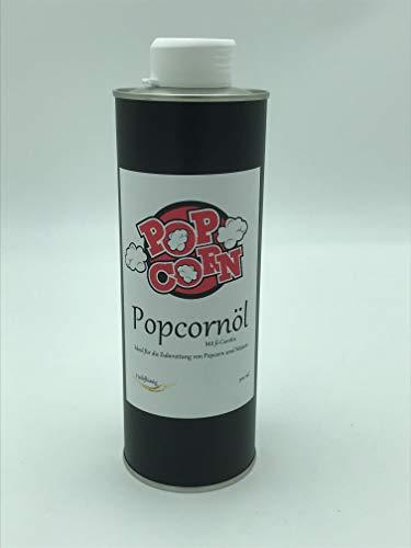 POPCORNÖL mit Betacarotin Halbflüssig 500 ml Popcorn Öl Ideal für die Zubereitung von Popcorn und Nüssen