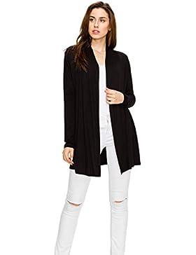 Mujer Regular y Plus tamaño Classic abertura frontal suave Knit Cardigan jerséis