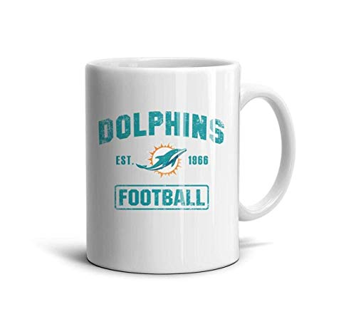 White Ceramic 11 OZ Coffee Mugs Printing Coffee Mugs Cups Friend,Dad,Grandpa,Brother Gifts,Miami Dolphins 1966,One Size - Miami Dolphins-ring