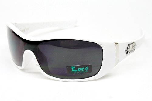 Wholesale LOCS DG XLOOP CHOPPERS Locs Hardcore Gangster Biker Aviator Turbo Sonnenbrille Lc117 Weiß