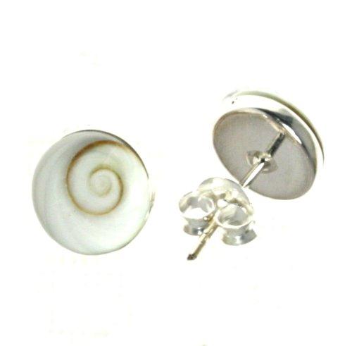 Bella Carina Damen Ohrstecker mit Shiva Auge 8 mm Durchmesser, 925 Sterling Silber (Auge Damen)