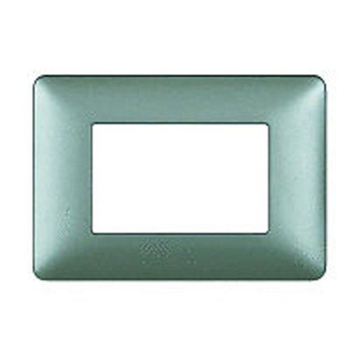 BTicino AM4804MSL Matix Placca, 4 Modulen, Silber -
