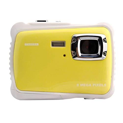 AG Tragbare Kinder Action Kamera - 2 Zoll Tft LCD 12Mp Hd Digital Dv - wasserdichte Motion Cam - 4X Smart Zoom - Best,Gelb