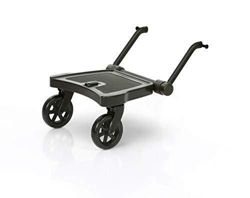 ABC Design Trittbrett Kiddie Ride On 2 | ABC Design Mitfahrbrett schwarz | universal passend für gängige Kinderwägen & Buggies | Rollbrett für Kinderwagen Buggy bis 20 kg, Größe:Trittbrett