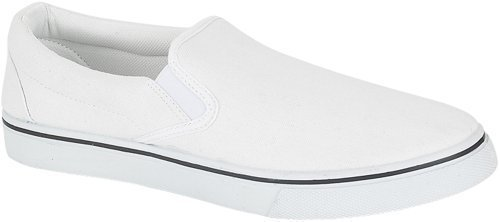 Mens Canvas Slip On Casual Plimsolls Loafers Pumps Deck Boat Shoes - choice of sizes.