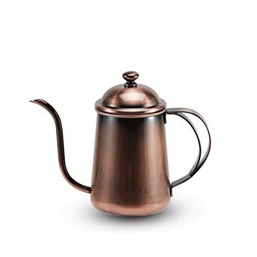Caffettiera JXLBB 304 in Acciaio Inox pentola a Mano Bocca Lunga Bocca Sottile bollitore bollitore caffè erogazione caffè Utensili da Cucina Bronzo Fabbrica Diretta 650 ml
