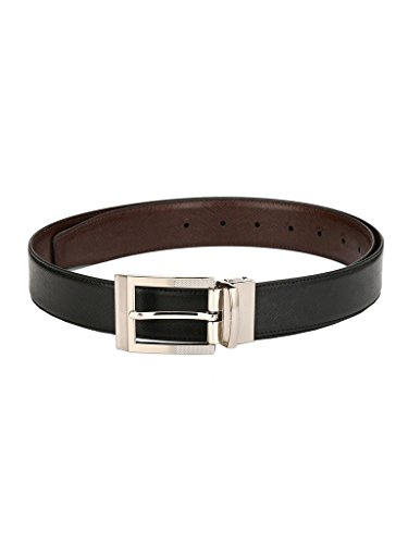 Pacific Gold Stylish Reversible Black & Brown Faux Leather 35-39 inch Formal Casual Belt for men (112353121_35-39)