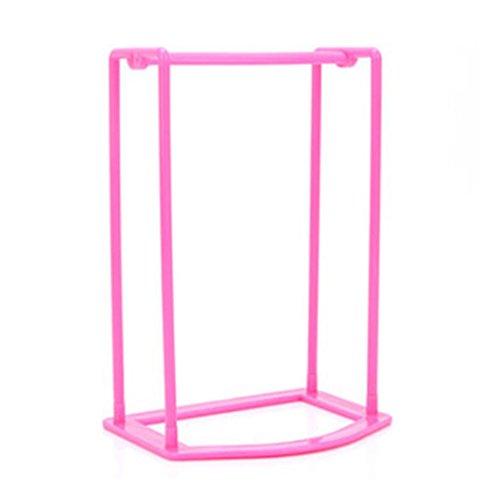 Transer® Creative Kleiderbügel Finishing Rahmen Kleiderbügel Begleiter zur Aufbewahrung Rack Kunststoff, hot pink, Size: 16.7x12.7x25cm (Bento-candy)