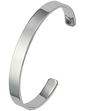 Schmucktrendzone Edelstahl Armspange, antiallergen, Breite 7 mm, Durchmesser 60 mm, glanz, Nr. 60009