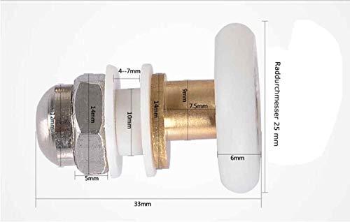 LESOLEIL Doccia Ruota Rotoli Ruote di Ricambio Porta 19 mm