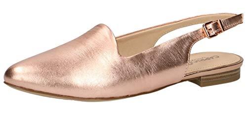 CAPRICE 29400-22 Damen Slingpumps,Slingback Pumps,Leder,modisch,Fashion,(596) Soft PINK MET,39 EU Slingback Open Toe Pump