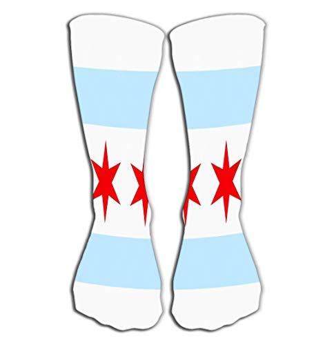 Xunulyn Hohe Socken Women's Tube Stockings Athletic Crew Socks 19.7
