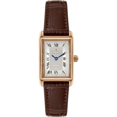 Dreyfuss and Co DLS00143-06 Ladies Gold Plated Brown Leather Strap Watch