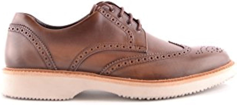 Hogan Hombre MCBI148403O Marrón Cuero Zapatos De Cordones -