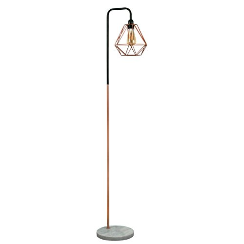 retro-style-black-copper-metal-white-marble-base-floor-lamp-complete-with-a-copper-metal-basket-cage