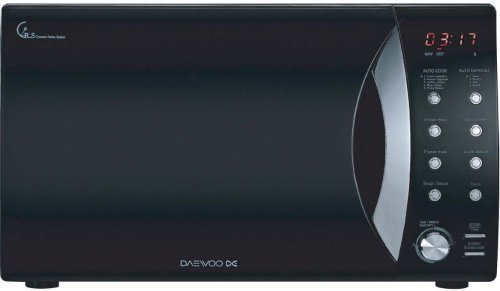 Daewoo KOR9A0R Micro-Ondes Electronique Mono 23L 800W Noir laqué