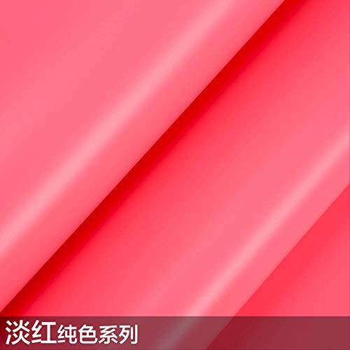 Tapete Selbstklebende Einfache Wasserdichte Dicke Pvc Weiß Grau Grün Rot Einfarbig Möbel Renoviert Schlafzimmer Wohnzimmer 45 * 1000Cm