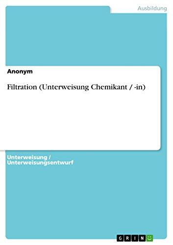 Filtration (Unterweisung Chemikant / -in) - Aktivkohle-filtration
