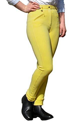 Gallop Classic Pantalon d'équitation Femme, Jaune foncé, Taille 38