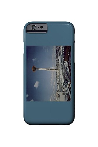 Seattle, WA - Space Needle and Monorail View (iPhone 6 Cell Phone Case, Slim Barely There) - Monorail, Space Needle