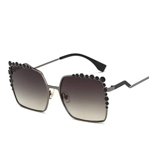 Shiduoli Übergroße Sonnenbrille Gradient Metal Frame Glasses (Color : E)