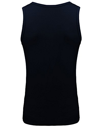 MODCHOK Herren Unterhemd Tank Top Muskelshirt Tankshirt Achselshirt Stringer Classics Fitness Dunkelblau