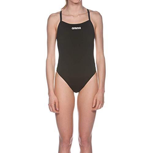 e1e539eac0c0 Arena W Solid Light Tech High Costume Sportivo Intero da Donna, Nero (Black/