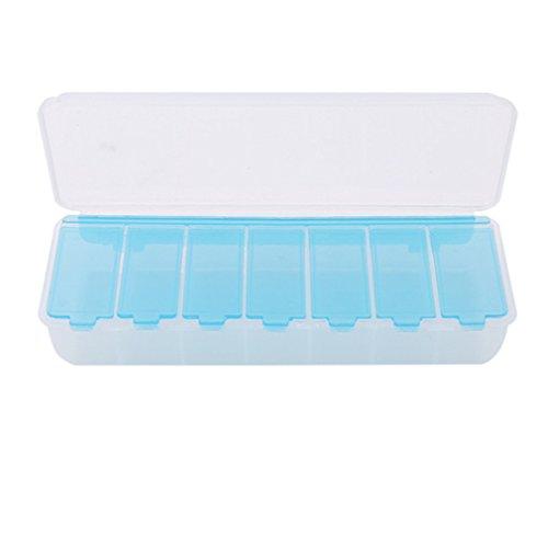 SEVENHOPE Große Reise Pille Fällen Portable 11-Day Medicine Box Tablet Speicherorganisator Container Fall Bunte Pill Box Fishing Getriebe (blau)