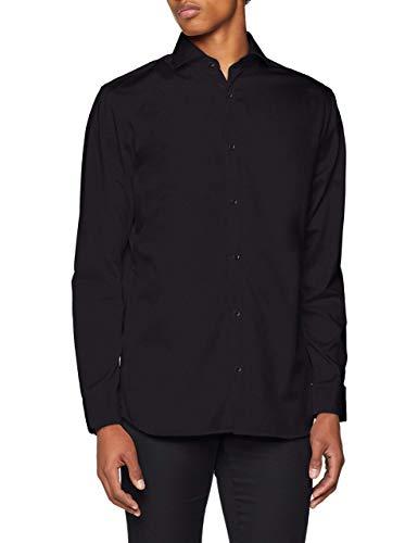 31a625e60 JACK & JONES PREMIUM Jprcomfort Shirt L/s Noos, Camisa Hombre, Negro (Black  Fit:Comfort Fit), Medium