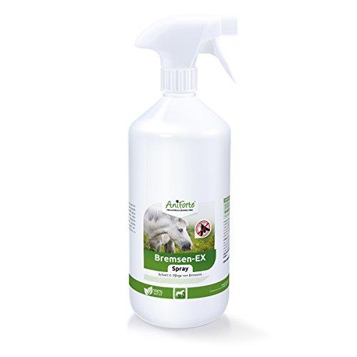 AniForte Bremsen-EX Spray 1 L für Pferde, Natürliches und langanhaltendes Abwehr-Spray gegen Bremsen, Mücken, stechende Fliegen und Parasiten